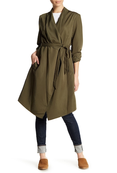 Imbracaminte Femei kensie Draped Trench Coat OLIVE