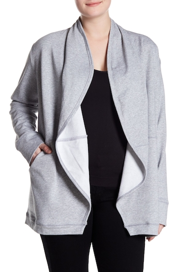 Imbracaminte Femei MELLODAY Open Front Cardigan Plus Size GREY
