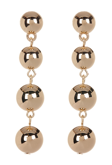 Bijuterii Femei 14th Union Four Smooth Sphere Linear Drop Earrings GOLD