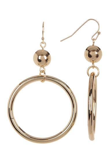 Bijuterii Femei 14th Union Sphere Hoop Drop Earrings GOLD