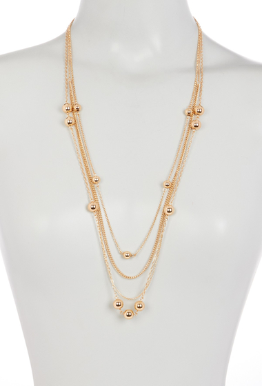 Bijuterii Femei 14th Union Bead Accent Station Layered Necklace GOLD
