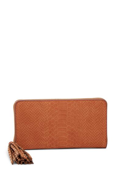 Genti Femei Deux Lux Juniper Zip Wallet COGNAC