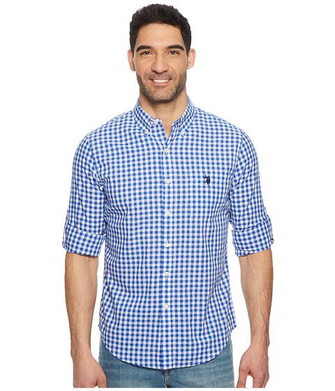 Imbracaminte Barbati US Polo Assn Long Sleeve Slim Fit Plaid Shirt Wedding Blue