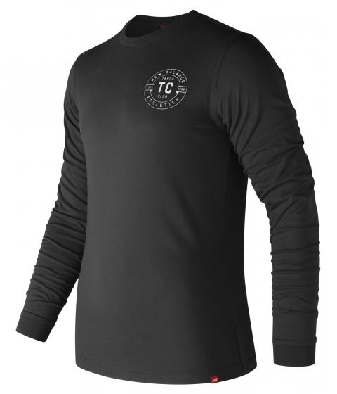 Imbracaminte Barbati New Balance Track Club Long Sleeve Tee Black