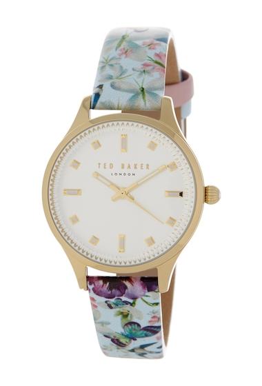 Ceasuri Femei Ted Baker London Womens Zoe Printed Leather Strap Watch NO COLOR