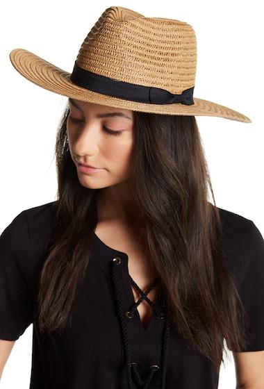 Accesorii Femei David Young Grosgrain Band Panama Hat LT BROWN