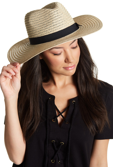 Accesorii Femei David Young Grosgrain Band Panama Hat NATURAL