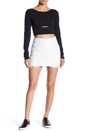 Imbracaminte Femei Free People Dreamy Days Mini Skirt IVORY
