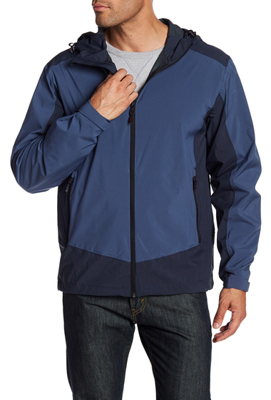 Imbracaminte Barbati Hawke Co Colorblock Hooded Rain Jacket BLUE NIGHT