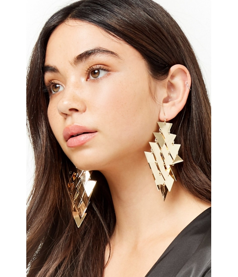 Bijuterii Femei Forever21 Tiered Triangle Drop Earrings GOLD