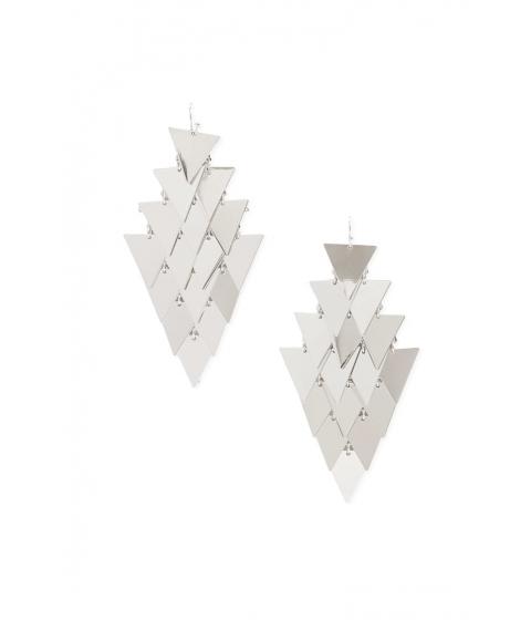 Bijuterii Femei Forever21 Tiered Triangle Drop Earrings SILVER