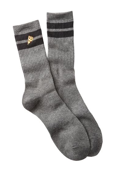 Accesorii Barbati Public Opinion Icon Crew Socks GREY- BLACK PIZZA