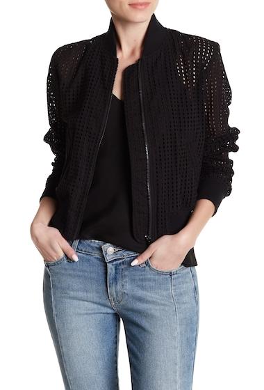 Imbracaminte Femei LOVE Moschino Giubbino Eyelet Bomber Jacket BLACK