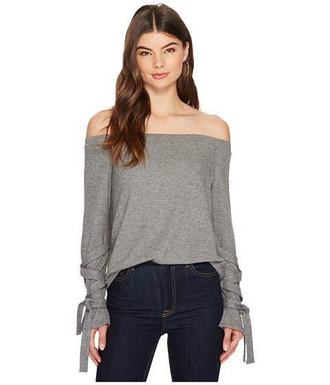 Imbracaminte Femei 6 Shore Road by Pooja Off Shoulder Tie Sleeve Top Pewter Heather