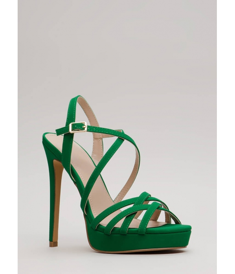 Incaltaminte Femei CheapChic Go To Your Strappy Place Platforms Green