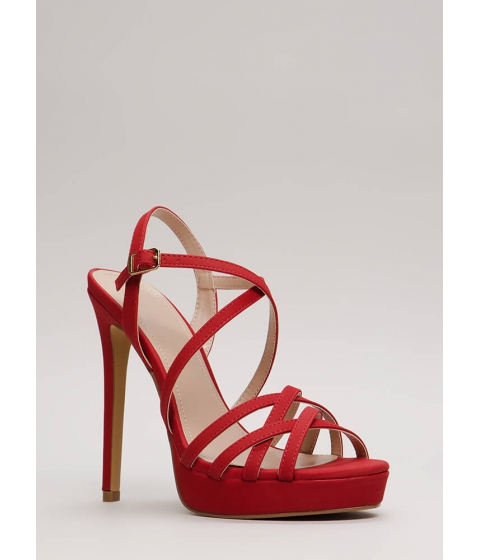 Incaltaminte Femei CheapChic Go To Your Strappy Place Platforms Red