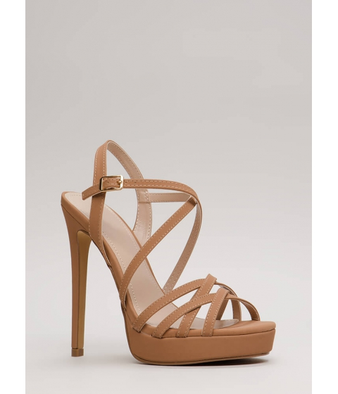 Incaltaminte Femei CheapChic Go To Your Strappy Place Platforms Taupe