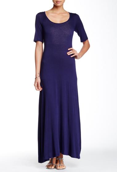 Imbracaminte Femei 247 Comfort Scoop Neck Maxi Dress NAVY