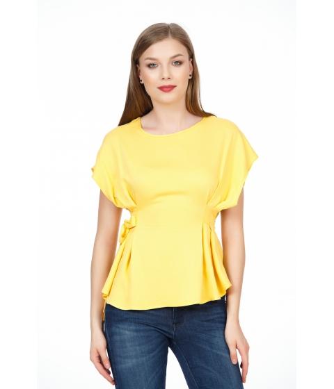 Imbracaminte Femei Be You Bluza galbena cu funda laterala Multicolor