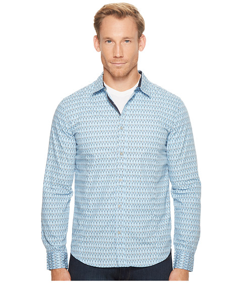 Imbracaminte Barbati Prana Lukas Slim Long Sleeve Shirt Aspen Blue