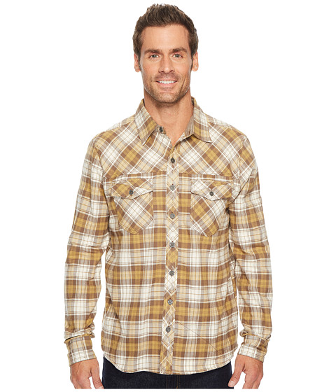 Imbracaminte Barbati Ecoths Zander Long Sleeve Shirt Chocolate Chip