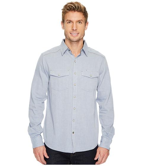 Imbracaminte Barbati Ecoths Donnelly Long Sleeve Shirt Vintage Indigo