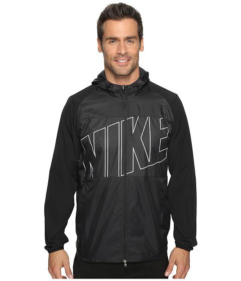 Imbracaminte Barbati Nike Printed Packable Hooded Jacket BlackBlackFlat Silver
