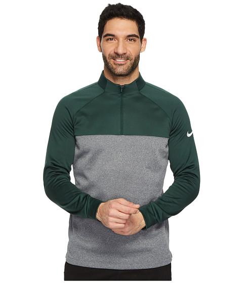 Imbracaminte Barbati Nike Therma-Fit 12 Zip Pro GreenDark GreyHeatherWhite