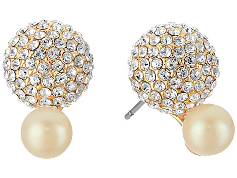 Bijuterii Femei Marc Jacobs Flying Colors Pave Double Bauble Stud Earrings Cream MultiGold