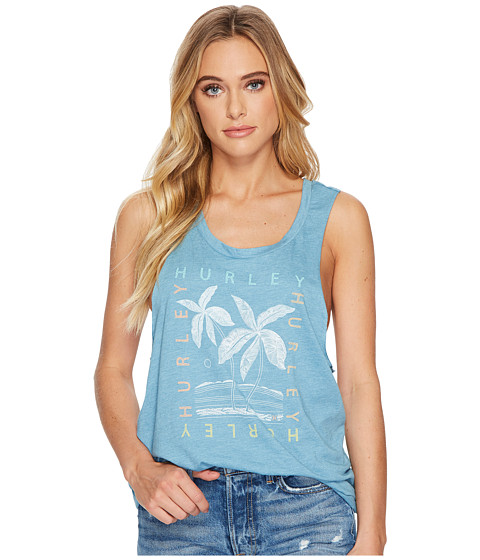 Imbracaminte Femei Hurley Tropics Tank Top Cerulean Heather