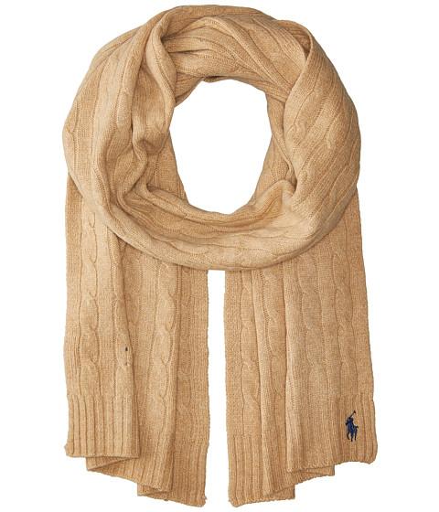 Accesorii Femei Polo Ralph Lauren Cashmere Blend Classic Cable Scarf Camel Melange