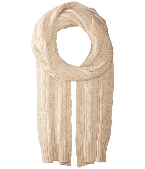 Accesorii Femei Polo Ralph Lauren Cashmere Classic Cable Scarf Amber Grain Melange
