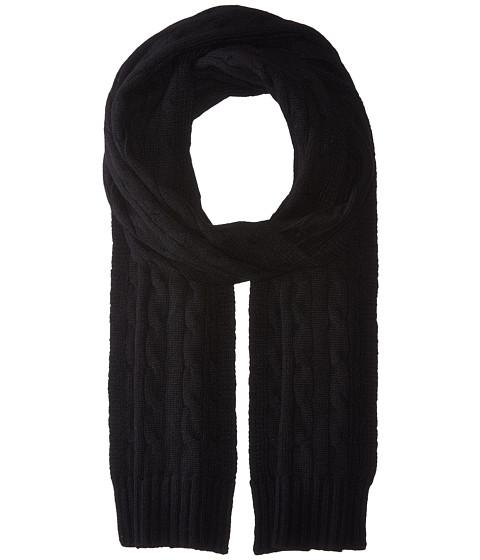 Accesorii Femei Polo Ralph Lauren Cashmere Classic Cable Scarf Black