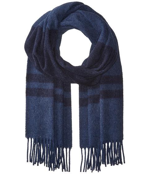 Accesorii Femei Polo Ralph Lauren Wool Blanket Stripe Scarf NavyShale Blue Heather