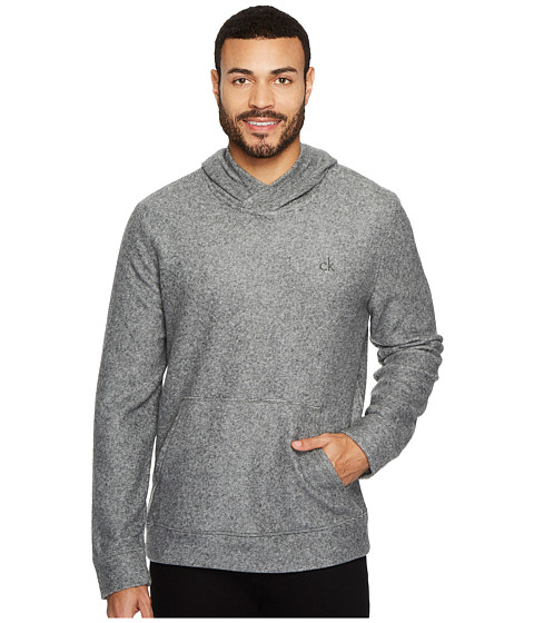 Imbracaminte Barbati Calvin Klein Brushed Cozy Crossover Hoodie Racetrack Heather