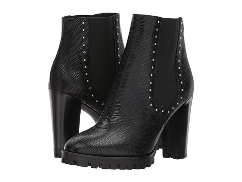 Incaltaminte Femei The Kooples Reptile-Effect Leather Boots with Studs Black