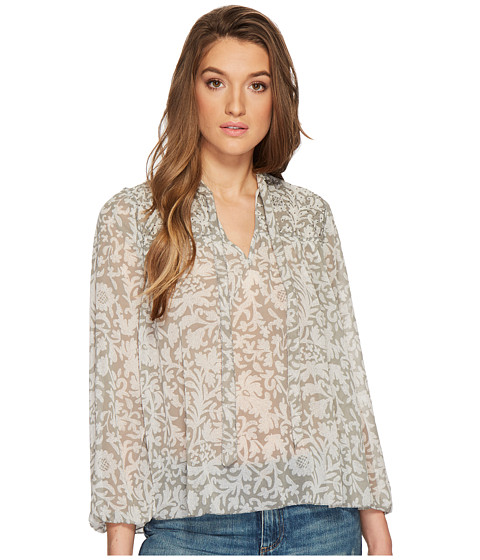 Imbracaminte Femei Lucky Brand Beaded Floral Peasant Top Grey Multi