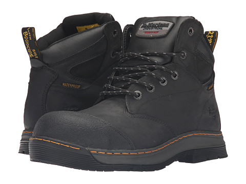 Incaltaminte Barbati Dr Martens Deluge Electrical Hazard Waterproof Steel Toe 6-Eye Boot Black Connection Waterproof