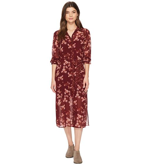 Imbracaminte Femei Lucky Brand Mixed Print Emily Dress Burgundy Multi
