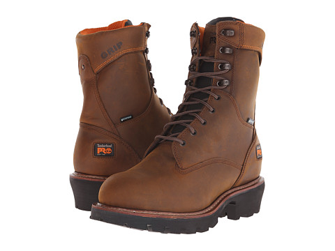 Incaltaminte Barbati Timberland 9quot Rip Saw Soft Toe Waterproof Insulated Logger Brown Distressed Leather