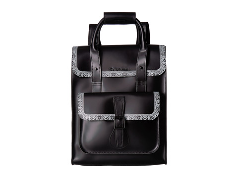 Genti Barbati Calvin Klein Small Leather Backpack Lace Print-OnBlack Smooth