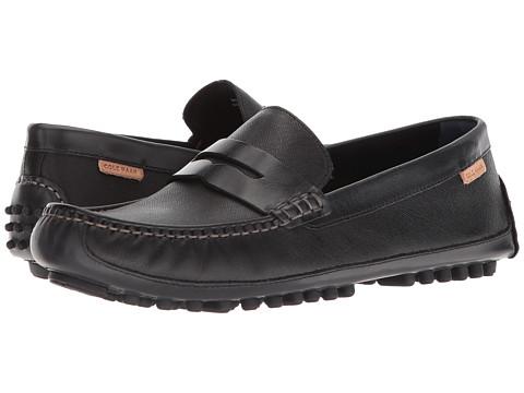 Incaltaminte Barbati Cole Haan Coburn Penny Driver II Black Textured Leather