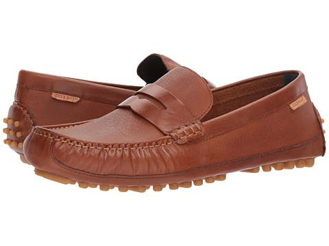 Incaltaminte Barbati Cole Haan Coburn Penny Driver II British Tan Textured Leather