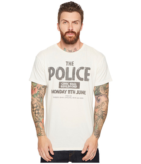 Imbracaminte Barbati The Original Retro Brand The Police Guilford Vintage Distressed Concert T-Shirt Antique White