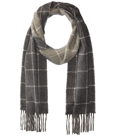 Accesorii Barbati Polo Ralph Lauren Reversible Windowpane Scarf Dark Granite HeatherFawn Grey Heather