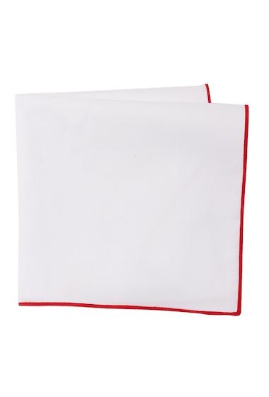 Accesorii Barbati 14th Union Bordered Pocket Square RED