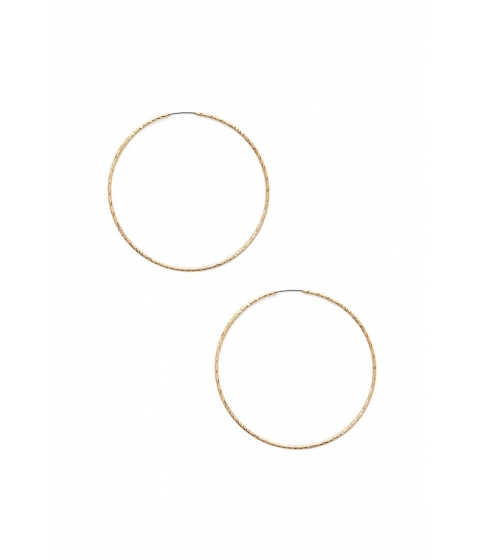 Bijuterii Femei Forever21 Textured Hoop Earrings GOLD