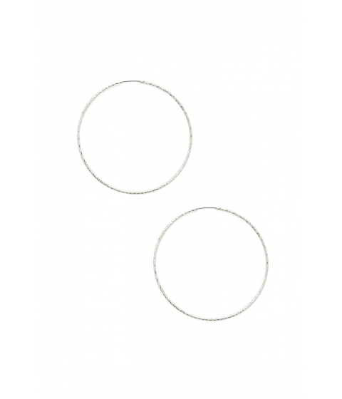 Bijuterii Femei Forever21 Textured Hoop Earrings SILVER