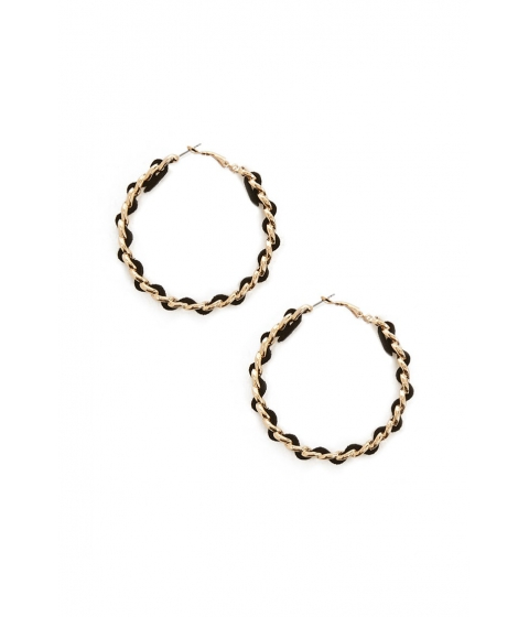Bijuterii Femei Forever21 Twisted Hoop Earrings GOLDBLACK