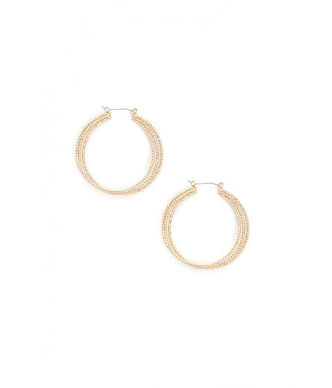 Bijuterii Femei Forever21 Beaded Hoop Earrings GOLD